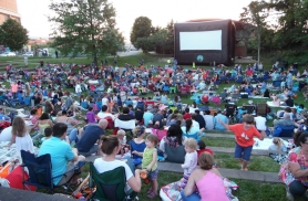 The Dogwood Park Pavilion is directly behind the CPAC center. There is an open stage for outdoor performances of plays. For the folks missing The Drive-In, movies in the park are offered for free during the summer months.