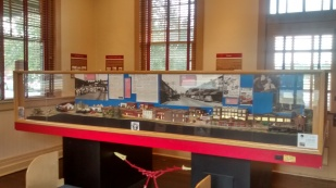 The model train is a beautiful recreation of the downtown Cookeville area.