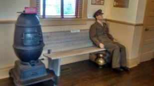 A soldier of days gone by could be waiting for family upon his return.