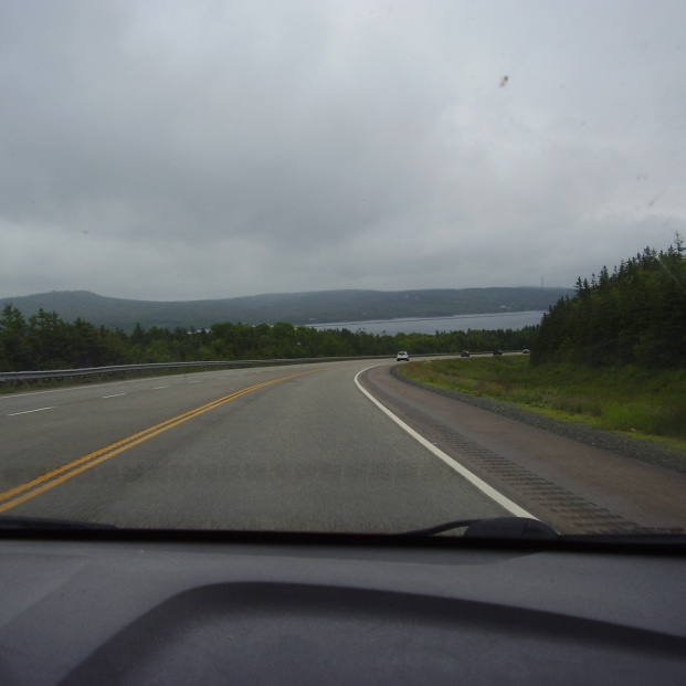 This is the view when you approach Cape Breton from mainland Nova Scotia.