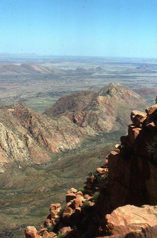 mt liebig summit view west