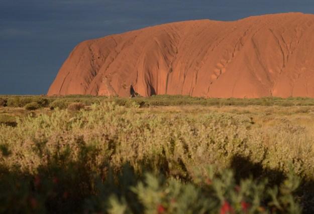 Uluru-sunset rock 2