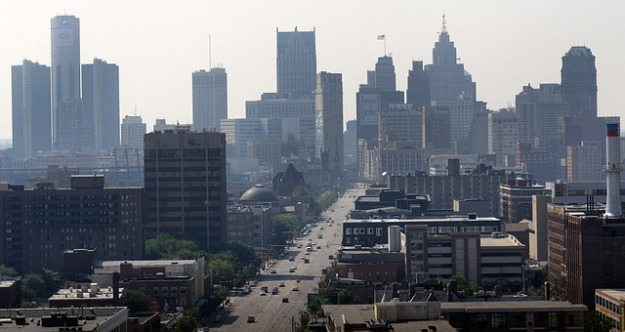 cityscape of Detroit, Michigan