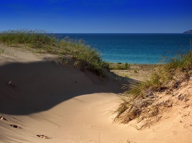 sand dunes on lake michigan